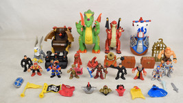 Imaginext Fisher Price Castle Knights Pirates Viking Dragon Figure Lot - $49.50