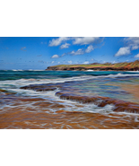 Electric Glow on Kauai Beach, Fine Art Photos, Paper, Metal, Canvas Prints - $40.00 - $442.00