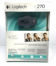 Logitech C270 720p HD Webcam Built-in Mic USB ZOOM Camera (Spanish Box C... - $37.95