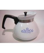 Corning Ware Cornflower 6-Cup Teapot, Pyroceram NM P-104 USA - $22.00