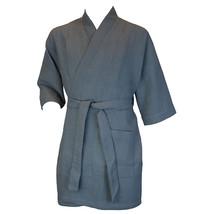 Terrytown Thigh Length Waffle Weave Kimono Robe Grey - $49.00