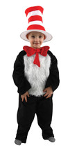 "Toddler's Deluxe Size 2T-4T Dr Suess's ""Cat in the Hat"" Costume Romper b... - $59.84"