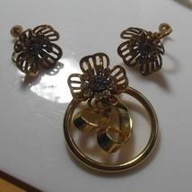 Vintage BN Brooch/Pendant & Matching Screw-Back Earrings  - $44.55