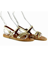 K Jacques J Crew Metallic Eres Sandal 37 7 US C6440 Womens Shoes Flats - $119.59
