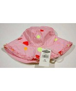 OLD NAVY  NWT INFANT GIRLS HAT 0-6M 6M PINK YELLOW WHITE POLKA DOTS  NEW - $4.20