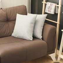 Set of 2 Light Gray Textured Pillow Covers - $44.12