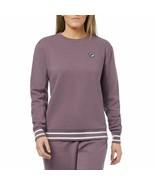 Fila Womens Terry Crewneck Sweatshirt Black Plum/White X-Large - $30.64