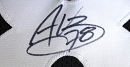 ALEJANDRO VILLANEUVA / HAND SIGNED PITTSBURGH STEELERS BLACK CUSTOM JERSEY / COA image 5