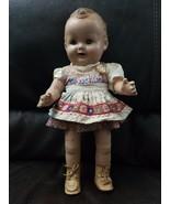 1930 VINTAGE BABY SANDY COMPOSITION DOLL THE WONDER  GENUINE BABY ANTIQU... - $197.01