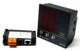 CAMILLE BAUER SINEAX A210 MULTIFUNCTIONAL POWER MONITOR W/ EMMOD-203 MODBUS/TCP