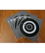 Lot 7 Paper Target Replacement Entertech GOTCHA Gun Paintball Game 1986 - $9.49