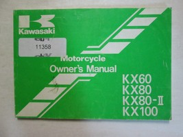 1994 Kawasaki KX60 KX80 KX80-II KX100 Motorcycle Owner's Manual 94 Om Kawasaki - $7.88