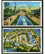 2 1933 World's Fair POSTCARDS Chicago Gerson Bros Unposted Antique VERY ... - $14.99