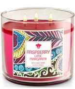 Bath & Body Works Raspberry Lime Margarita Three Wick 14.5 Ounces Scente... - $23.95