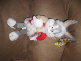 "2012 BUGS BUNNY SANTA Licensed Plush NWT Stuffed New With Tags 18"" Loone... - $17.99"