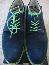 New Stafford Men Austin Plain Toe Lace Up Oxford Leather Shoes Navy Size 8M - $50.08