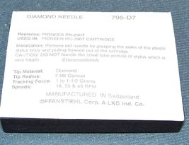 PIONEER PN-290T PN-290 Replacement NEEDLE STYLUS Pfanstiehl 795-D7 PN300T PC290 image 3