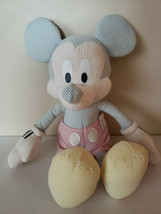 Disney Store Seersucker Mickey Mouse Plush - $14.85
