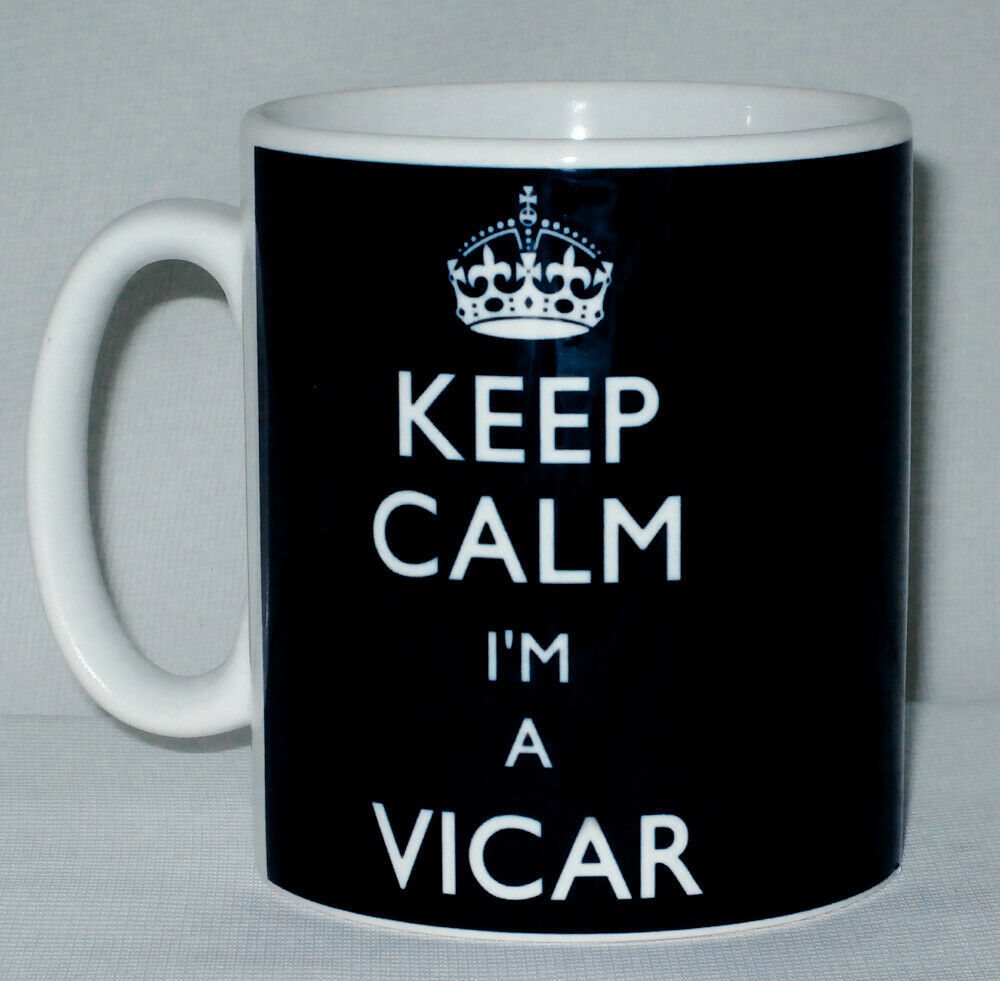 Primary image for Keep Calm I'm A Vicar Mug Can Personalise Great Parish Reverend Church Gift Cup