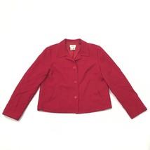 Vintage Talbots Donna 12 Blazer di Lana Foderato Rosso Giacca Pulsante A... - $26.34