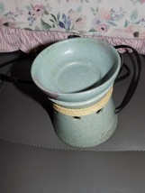 Scentsy Teal Warmer With Twine EUC - $35.60
