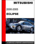 MITSUBISHI ECLIPSE 2000 2001 2002 2003 2004 2005 FACTORY SERVICE REPAIR MANUAL - $14.95