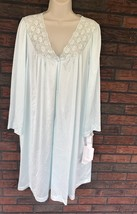 Vintage Vanity Fair Nightgown Large Pale Blue 100% Nylon New W/Tags Butt... - $34.65