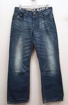 MENS EXPRESS Size 29 X 28 Medium Wash Wiskers Distressed Denim Boot Cut ... - $13.43