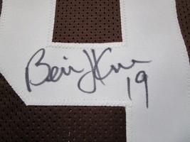 BERNIE KOSAR / AUTOGRAPHED CLEVELAND BROWNS CUSTOM FOOTBALL JERSEY / COA image 4