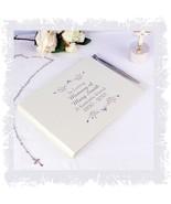 Delicate memorial guest book & Pen Bereavement Personalised  | Cellini #1 - $29.45