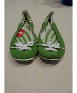 American Eagle Outfitters Green & White Ballet Flats Size 10 - $9.90