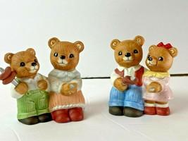 Homco Set of 4 Bears Family Roasting Hotdog and Marshmallows NEW With Box - $16.80