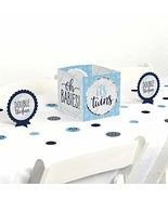 Big Dot of Happiness It's Twin Boys- Blue Twins Baby Shower Centerpiece... - $13.19