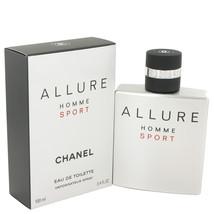 Chanel Allure Homme Sport 3.4 Oz Eau De Toilette Cologne Spray  image 4