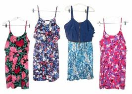 Elle Sundress Dress Tiered Floral Print, White Eyelet etc. NWT$50 Sz S-1X - $23.74+