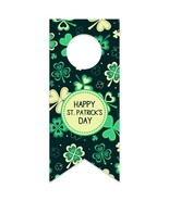 Vintage Clovers St. Patrick's Day Water Bottle Hang Tag - $26.24