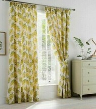 Cath Kidston Mimosa Flower Yellow Cream Lined Pencil Pleat Curtains 9 Sizes - $50.16+