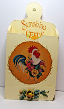 Hand Painted Rooster Chicken Folk Art Rustic Primitive Country Box Wall ... - $55.00