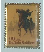 1994 Winco Internazionale USPS Francobollo Design 29c Bufalo Soldati Met... - $12.83