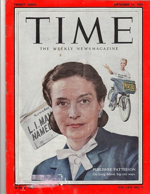 Time Magazine 1954,Sept 13,  PUBLISHER PATTERSON, On Long Island, big city ways