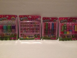 New Shopkins Lot (4) Lip Balm (6) Lip Gloss (6) Polish (4) Press-On Nails (4pk) - $24.95