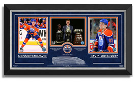 Connor McDavid Trophies, Framed Collector Photos Ltd Ed /297 - Etched Design - $390.00