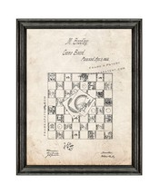 Life Game Patent Print Old Look with Black Wood Frame - $24.95+