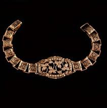 Vintage Edwardian Bracelet - enamel bookchain links - Seed pearls - gold... - $165.00