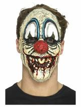 Men's FX Deluxe Foam Latex Clown Face Prosthetic Mask Fancy Dress Halloween IT - $18.49+