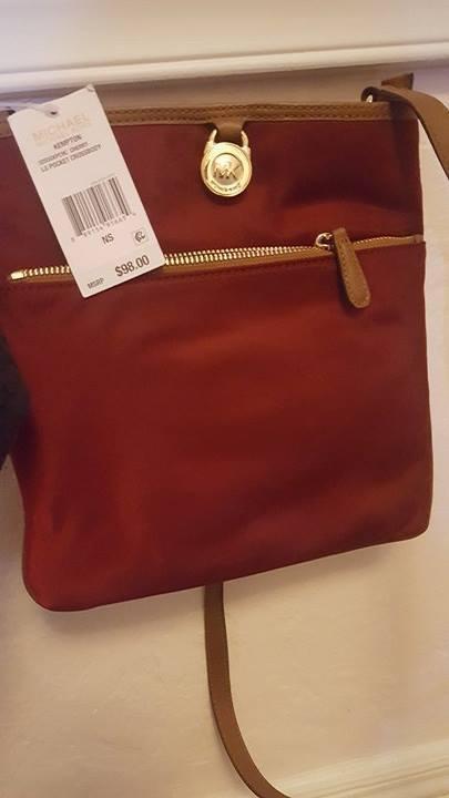 5acd168725fb6c Michael Kors Kempton Merlot Large Pocket Nylon Crossbody Bag Purse  32S5GKPC9C