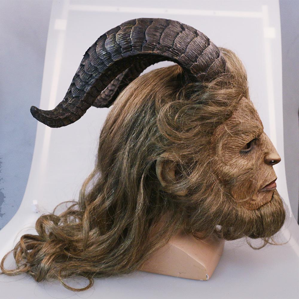 Handmade Beauty and the Beast Mask Prince Dan Stevens Beast Mask Cosplay