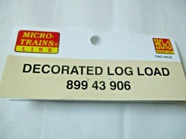 Micro-Trains # 89943906 Decorated Log Load 2 Pack HOn3 Scale image 2