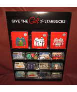 Give the Gift of Starbucks 2016 Holiday Gift Card Display w/ 146 Origina... - $727.90