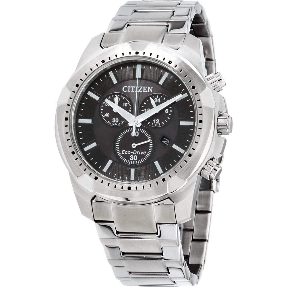 Citizen Men's Eco-Drive Stainless Steel Chronograph Watch AT2260-53E